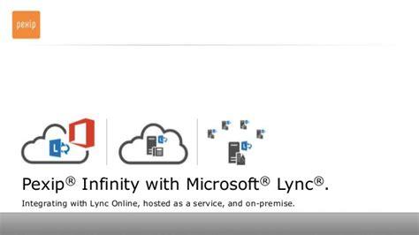 integrating to infinity pexip infinity with microsoft lync deployment scenarios
