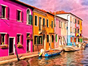 colorful house colorful houses of burano by michael pickett