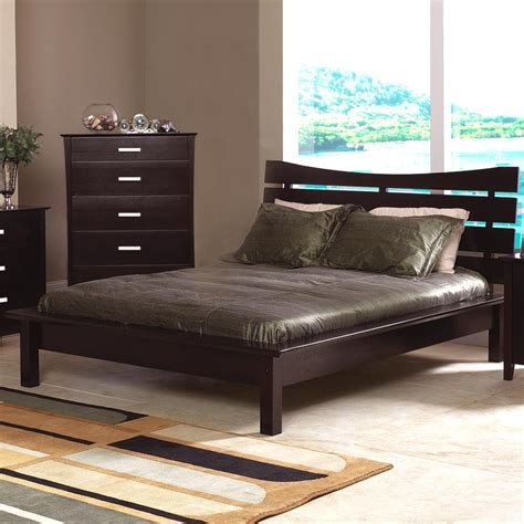 queen platform bed with headboard coaster stuart queen platform bed with slat headboard 5631q