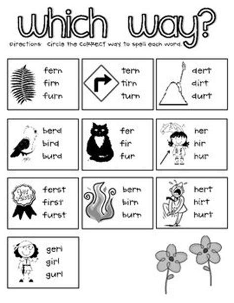 Er Ir Ur Phonics Worksheets by 11 Best Images Of Phonics Oo Words Worksheets For