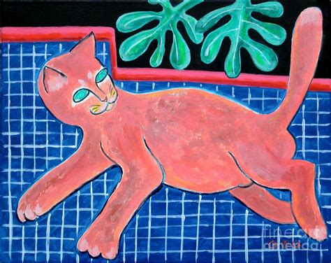 Large Reclining Matisse by A Cat For Matisse Large Reclining Painting By