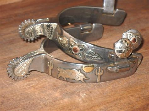 Handmade Roping Spurs - handmade mounted mike emberson roping spurs