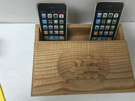 Wooden Charging Station Organizer by Custom Wooden Cell Phone Charging Station Organizer