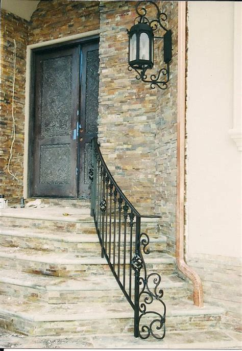 Decorative Iron Works by Exterior Rails