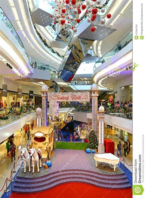 christmas decoration at festival walk shopping mal