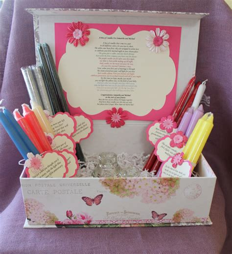 Candle Poem For Bridal Shower by Wedding Shower Candle Poem Gift Set Bridal Candle Basket