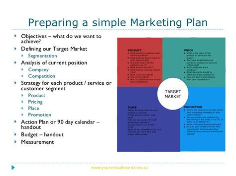 developing a marketing plan template how to develop a simple marketing plan