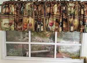 wine bottle curtains wine glass bottle classy square valance ebay
