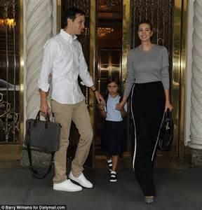 Ivanka trump and jared kushner take daughter arabella to first day of