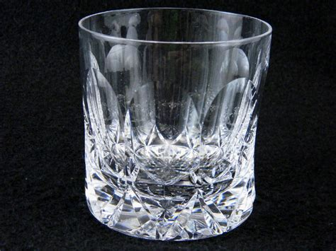 crystal barware tudor england frobisher cut crystal old fashioned bar