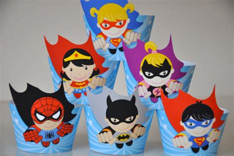 Cake Toppers Tema My Baby Tusukan Kue Ultah Baby heroes cupcake wrappers flash toppers
