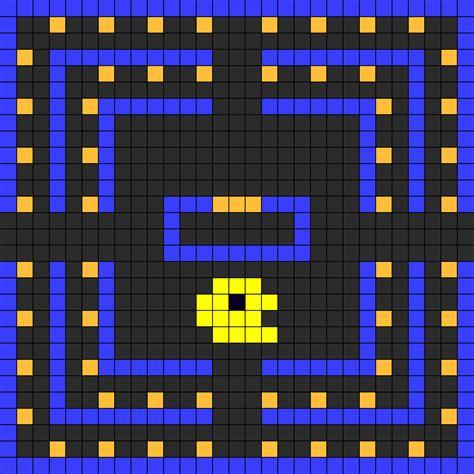 perler bead pacman pac perler bead pattern bead sprites characters