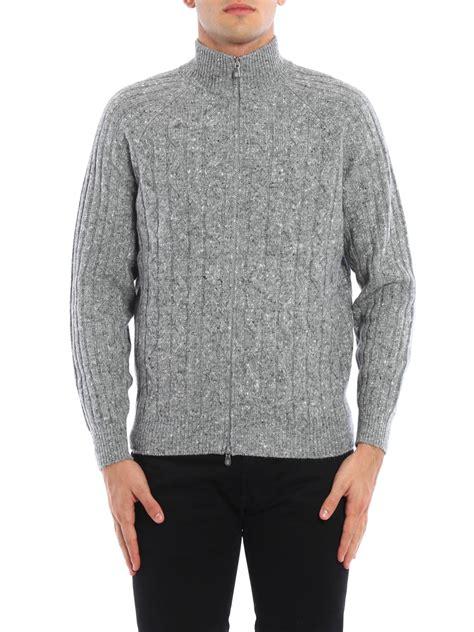 twist knit blend cardigan by brunello cucinelli