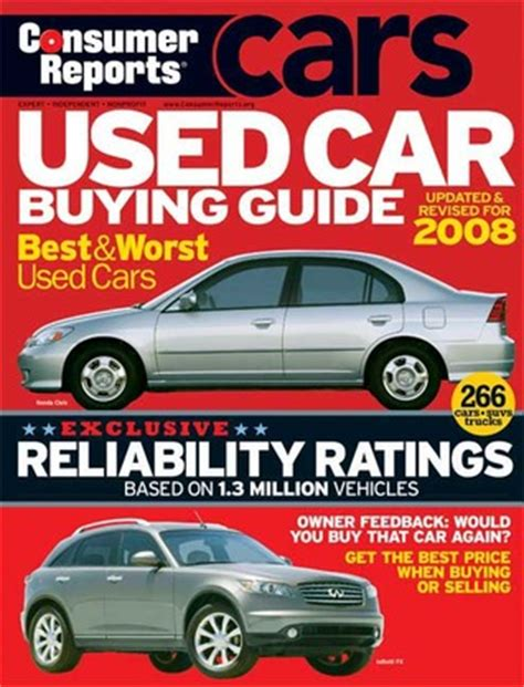 consumer reports books used car buying guide 2008 by consumer reports reviews