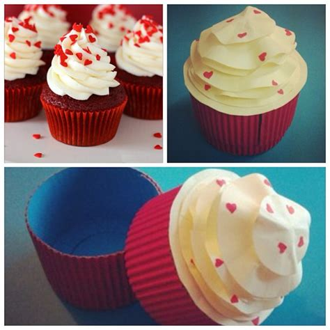 Papercraft Cupcake - paper papercraft gift cupcake cake giftbox handmade