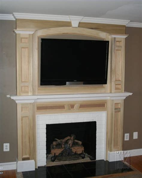 wall mantle awesome modern style wooden tv wall fireplace mantel ideas