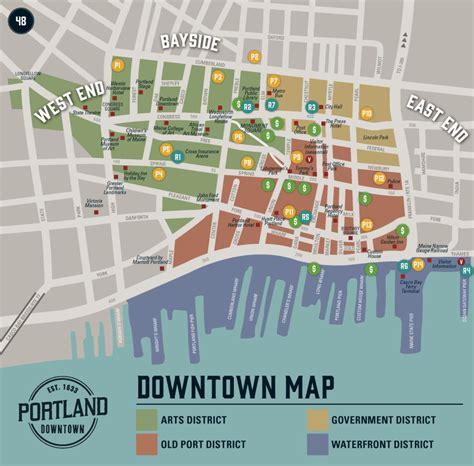 downtown map portland downtown