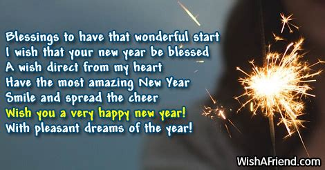 blessings to have that wonderful start new year message