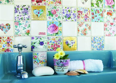 Patchwork Wall Tiles - set of patchwork tiles by welbeck tiles