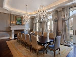 Grand Dining Room Le Grand R 233 Ve A Inspired Home In Winnetka