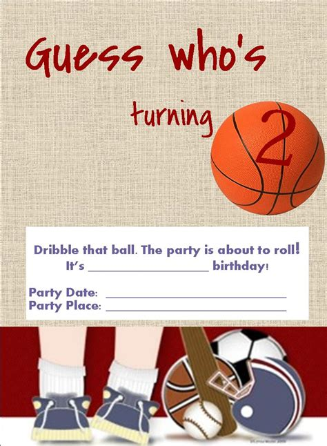 Free Printable Birthday Invitations Sports Softball Invitation Template