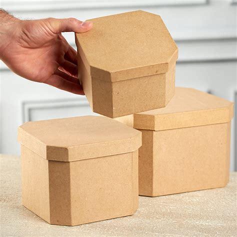 paper mache craft supplies paper mache corner square box set paper mache