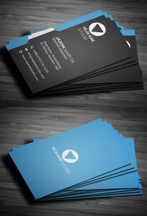 modern business card template vertical 25 new professional business card psd templates design