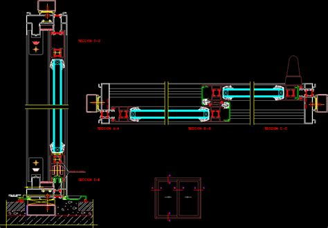window section cad block sliding window dwg section for autocad designs cad