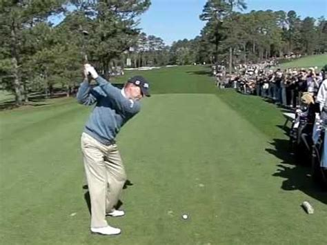 steve stricker golf swing slow motion steve stricker slow motion 3rd hole masters 2009 2 youtube