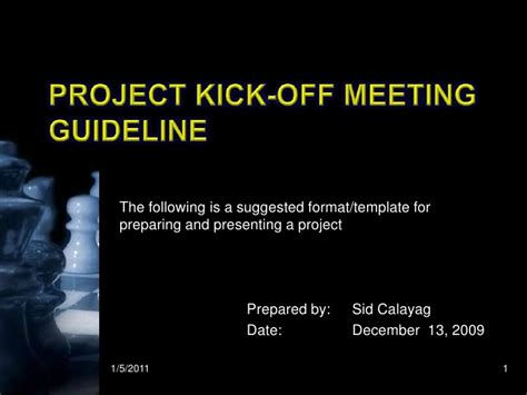 project kickoff meeting template kick meeting presentation