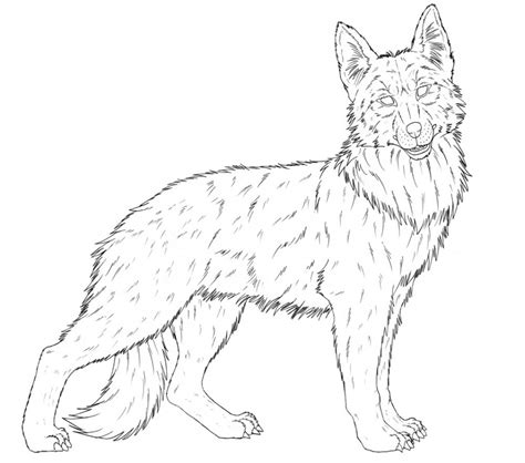 german shepherd coloring many interesting cliparts