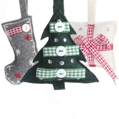 felt christmas ornament set christmas ornaments