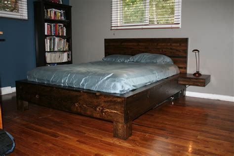 floating bed plans pdf plans king size floating platform bed plans download