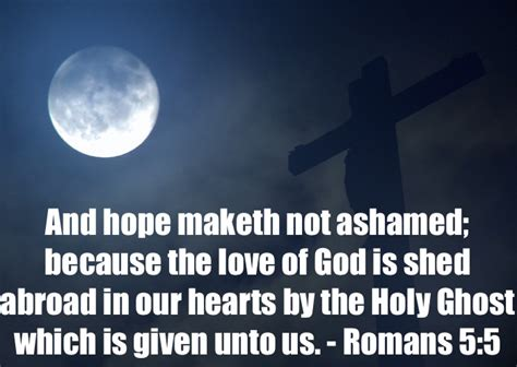 The Of God Is Shed Abroad In Our Hearts by Eight Bible Verses About Romans 5 5