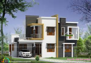 contemporary house plans box type modern house plan kerala home design and floor
