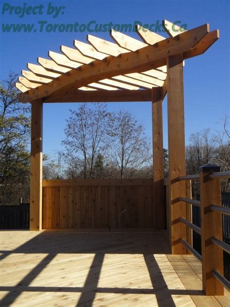 Garden Triangle Trellis Pergola Standing Proudly At The Corner Of The Deck Deck