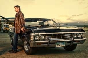 dean winchester with chevrolet impala 1967 supernatural