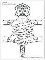 Folding Paper Animals Templates - folding tiger template this site has several folding