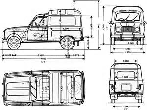 Renault 4f Car Blueprints Renault 4f Blueprints Vector Drawings