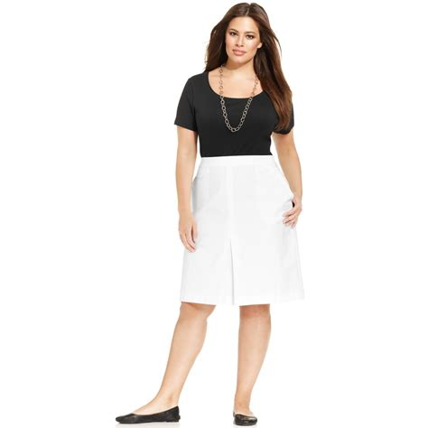 Topshop In New York Plus Size Store To Soon Follow by Jones New York Signature Plus Size Aline Pleated Skirt In