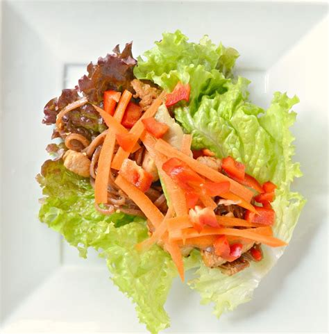 new year rice noodles lettuce wraps with stir fry rice noodles serena bakes