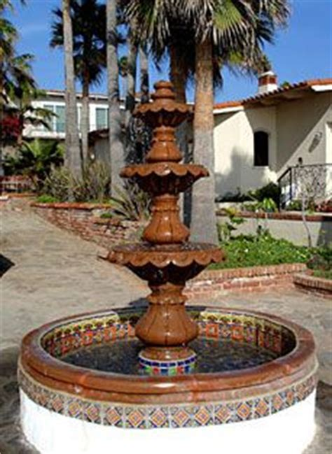 garden talavera fountain talavera pottery pinterest