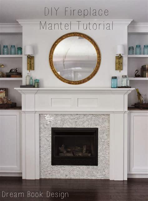 kamin basteln diy fireplace mantel tutorial book design