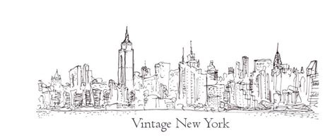simple of new york skylines coloring pages
