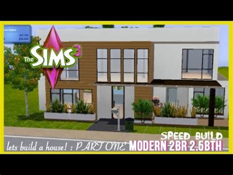 the sims house building modern abode speed build youtube idolza the sims 3 speed build modern style home part 1