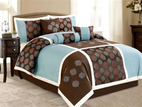 Taille Couette Bébé by 7 Size Comforter Set Embroidered Leaf Brown