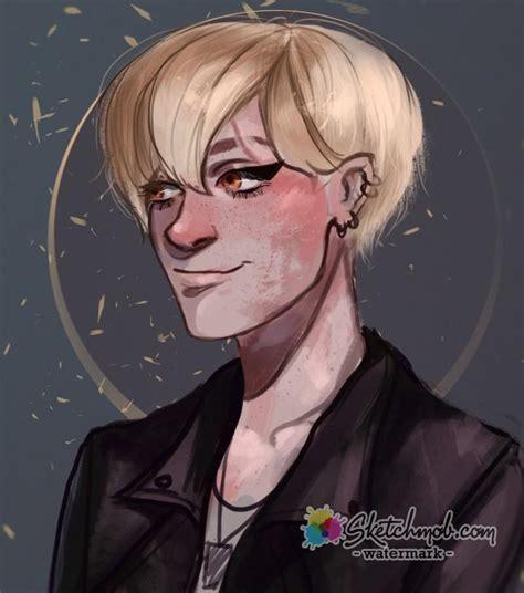 anime semi custom semi realistic anime portrait commission sketchmob