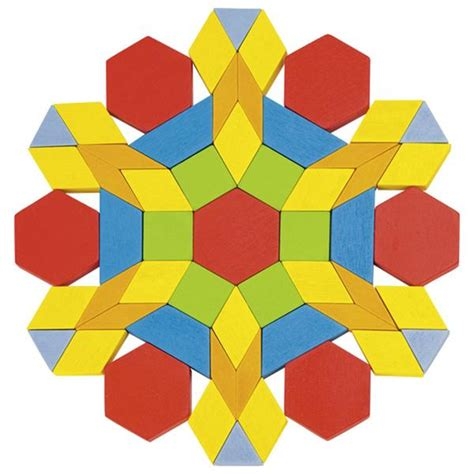 pattern block shape puzzles geometric wooden pattern blocks