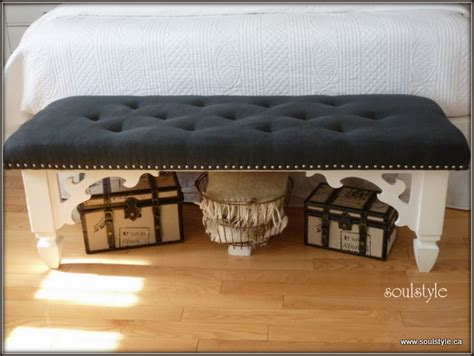 how to make an upholstered bench upholstered tufted bench complete soulstyle