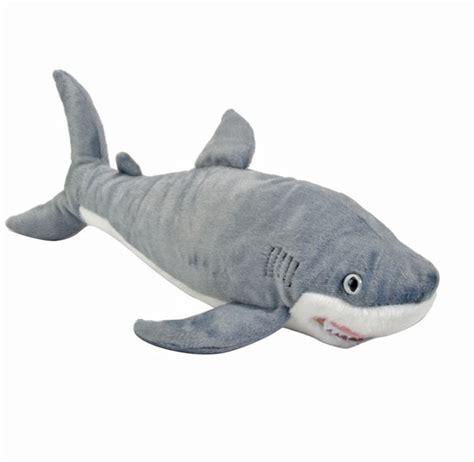 shark plush great white shark soft plush stuffed 15 quot 38cm cuddlekins republic new ebay